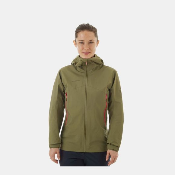 Mammut Womens Meron Light HS Jacket Olive/Pink
