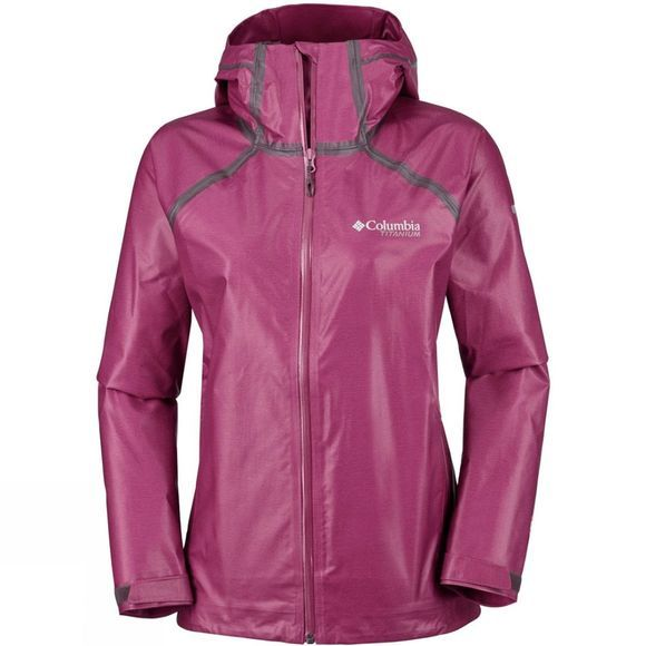 Columbia Womens Outdry Ex Reign Jacket Wine Berry Heat