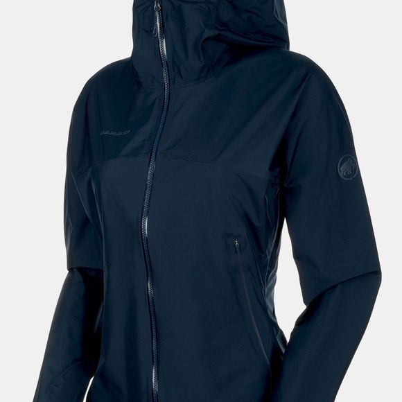 Mammut Womens Masao Light HS Hooded Jacket Peacoat