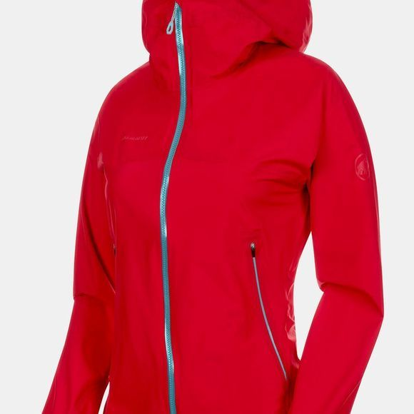 Mammut Womens Masao Light HS Hooded Jacket Ruby/Waters