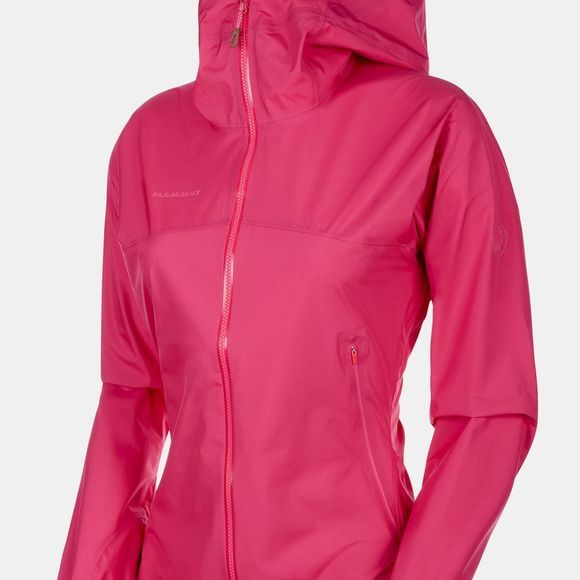 Mammut Womens Masao Light HS Hooded Jacket Pink