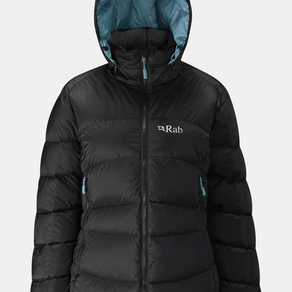 Rab Women's Ascent Jacket Black/ Seaglass