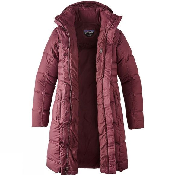 Patagonia Womens Down With It Parka Dark Ruby