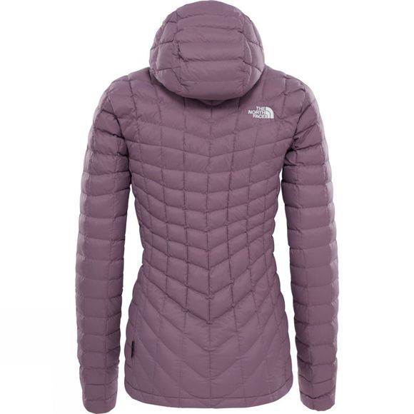 The North Face Womens Thermoball Hoodie TNF Black Plum