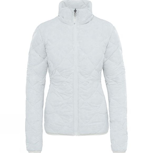 The North Face Womens Zip-In Reversible Down Jacket Vaporous Grey