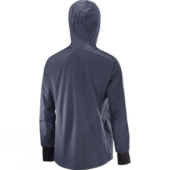 Salomon Womens Haloes Down Hybrid Hoodie Graphite