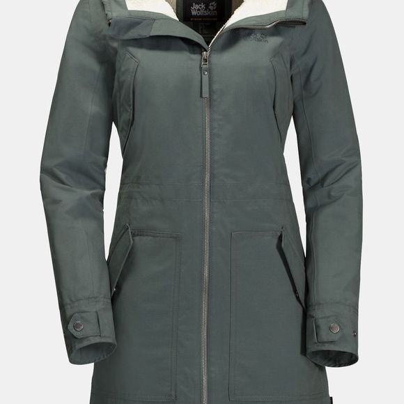 Jack Wolfskin Womens Rocky PoInt Parka Greenish Grey