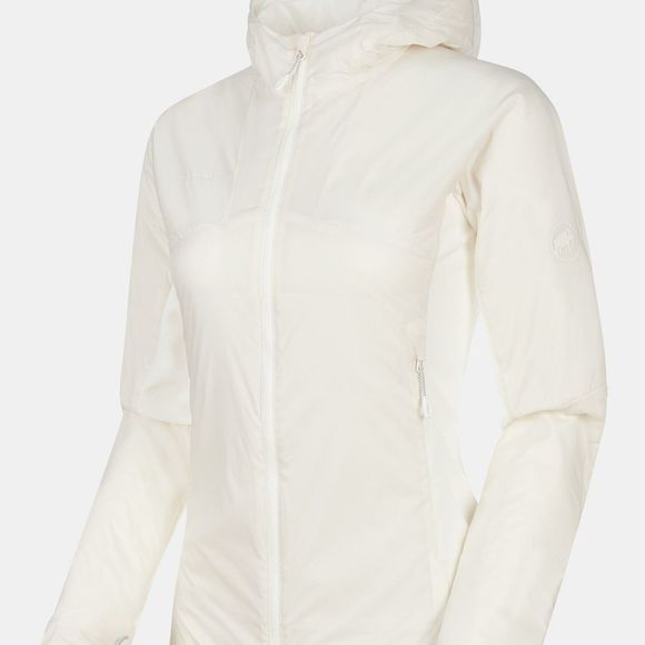 Mammut Womens Rime Light IN Flex Hooded Jacket Bright White