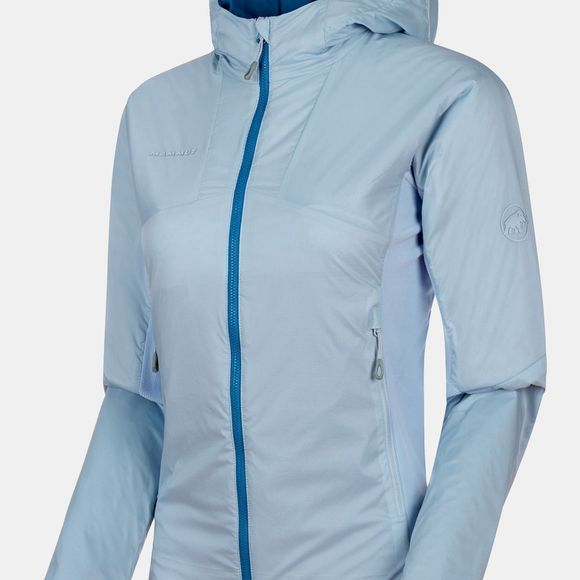 Mammut Womens Rime Light IN Flex Hooded Jacket Zen/Surf