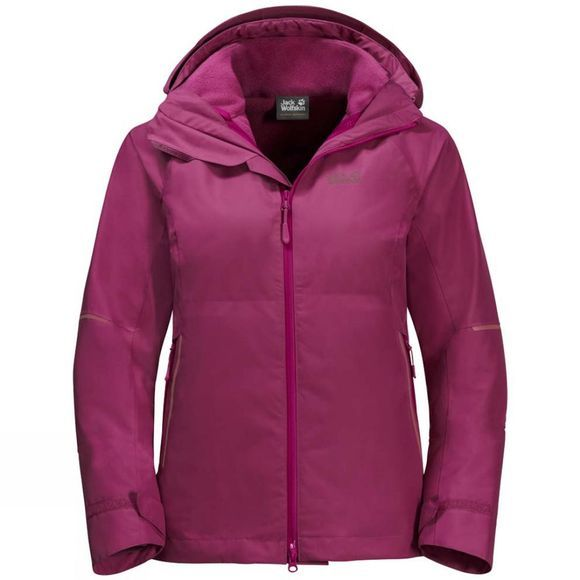 Womens Skei Trail 3In1 Jacket - Lt Blue