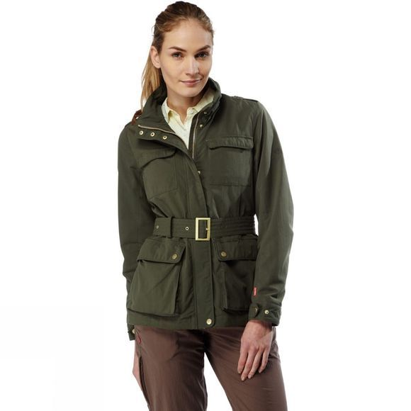 Craghoppers Womens NosiLife Safari Jacket Parka Green
