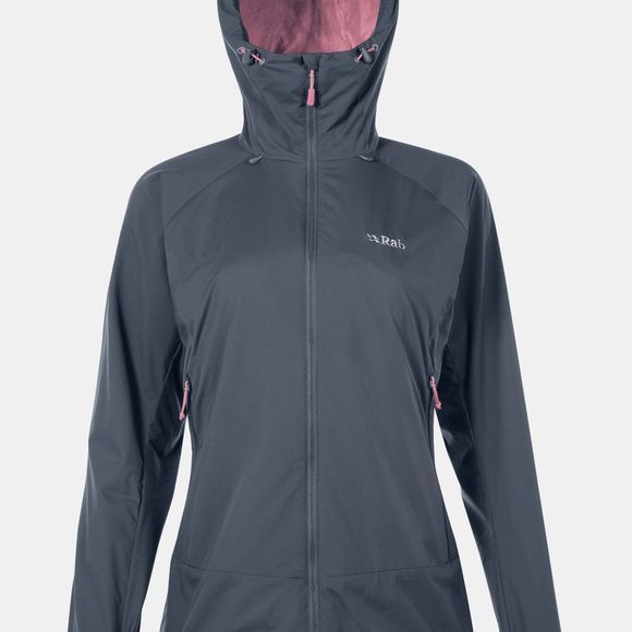 Rab Womens Vapour-Rise Jacket Steel