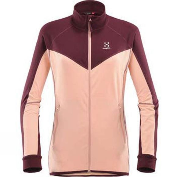 Haglofs Womens Lithe Jacket Cloudy Pink/Aubergin