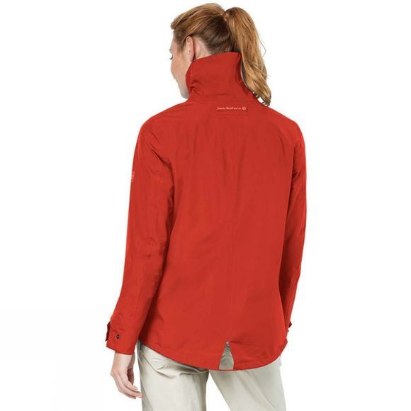 Jack Wolfskin Womens Newport Texapore Ecosphere Jacket Volcano Red