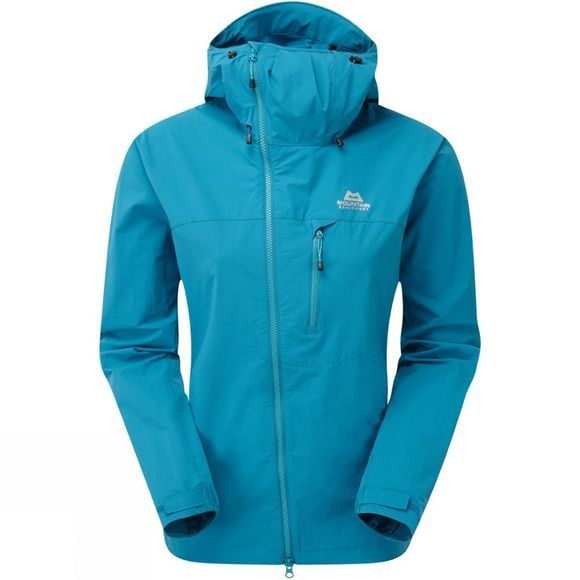 Mountain Equipment Womens Squall Hooded Jacket Tasman Blue