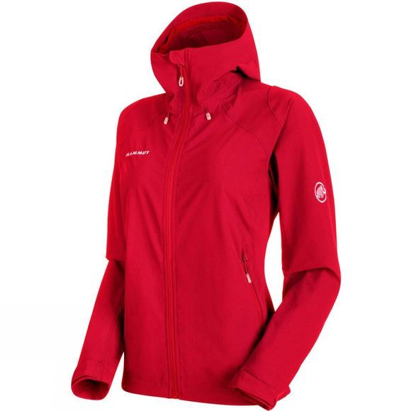 Mammut Womens Runbold Trail SO Hooded Jacket Magma