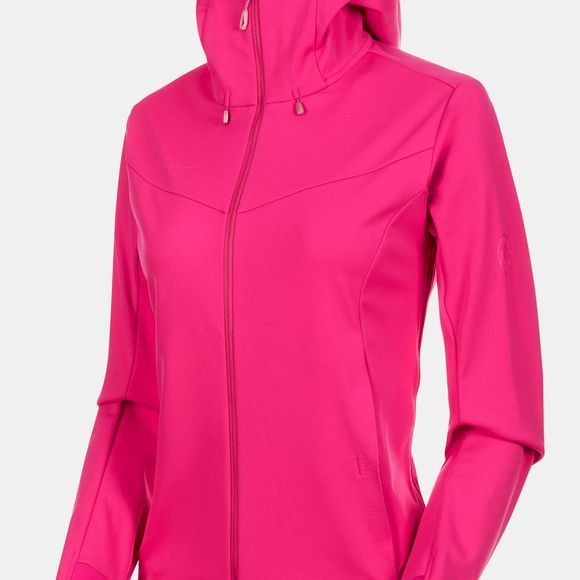 Mammut Womens Ultimate V SO Hooded Jacket Pink/Candy Melange