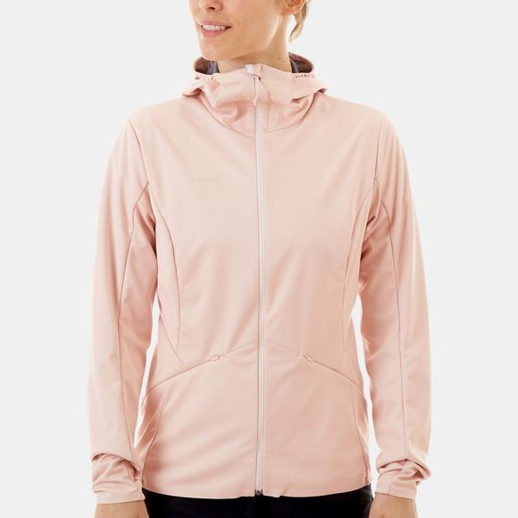 Mammut Womens Ultimate V Tour SO Hooded Jacket Candy