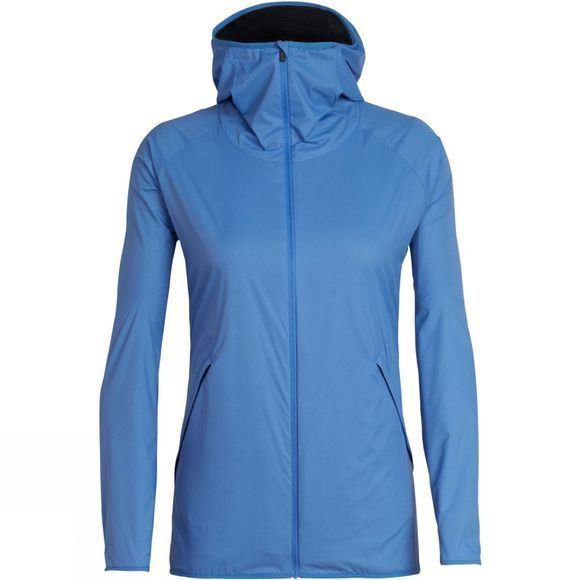 Icebreaker Womens Coriolis II Hooded Windbreaker Cove / Monsoon