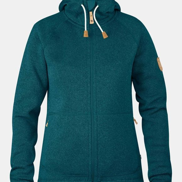 Fjallraven Womens Övik Fleece Hoodie Glacier Green