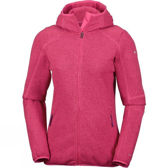 Columbia Women's Altitude Aspect Hooded Fleece Jacket Punch Pink Heather