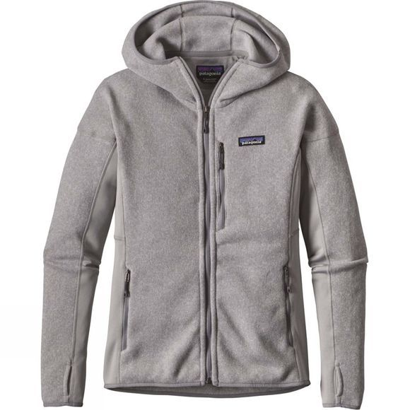 Patagonia Womens Performance Better Sweater Hoody Drifter Grey