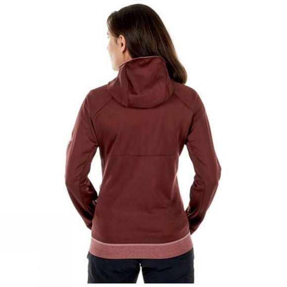 Mammut Womens Get Away ML Hooded Jacket Merlot Melange