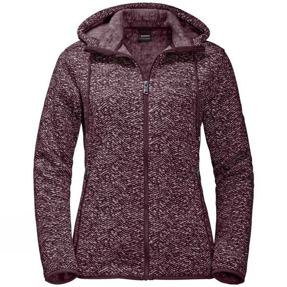 Jack Wolfskin Womens Belleville Jacket Burgundy All Over