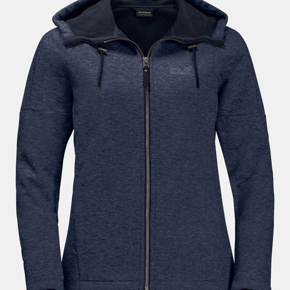 Jack Wolfskin Womens Sky Thermic Hooded Jacket Night Blue