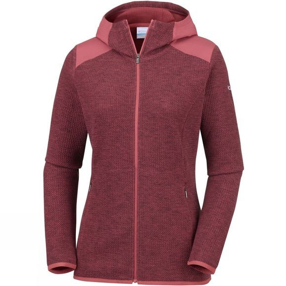 Columbia Womens Coggin Peak Hooded Fleece Rose Dust