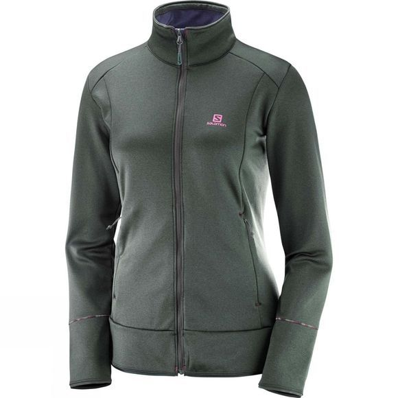 Salomon Women's Discovery Full Zip Midlayer Urban Chic Heather