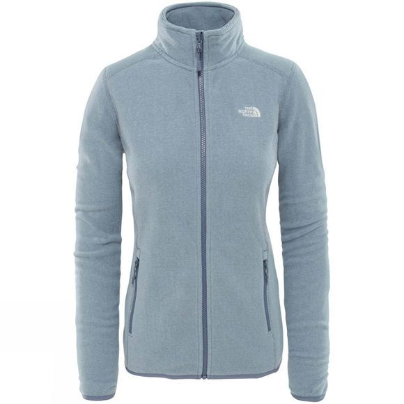 The North Face Women's 100 Glacier Full Zip Grisalle Grey/ Flint Stone Grey