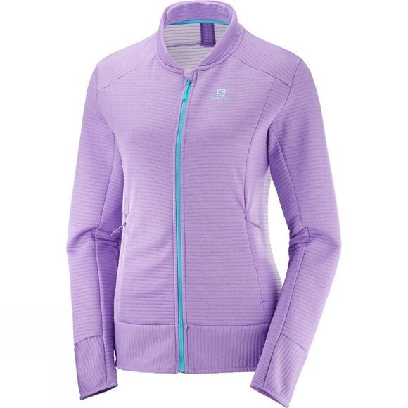 Salomon Womens Right Nice Fz Mid Jacket Bougainvillea