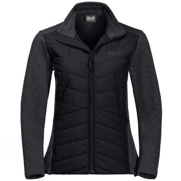 Jack Wolfskin Womens Caribou Crossing Fleece Black