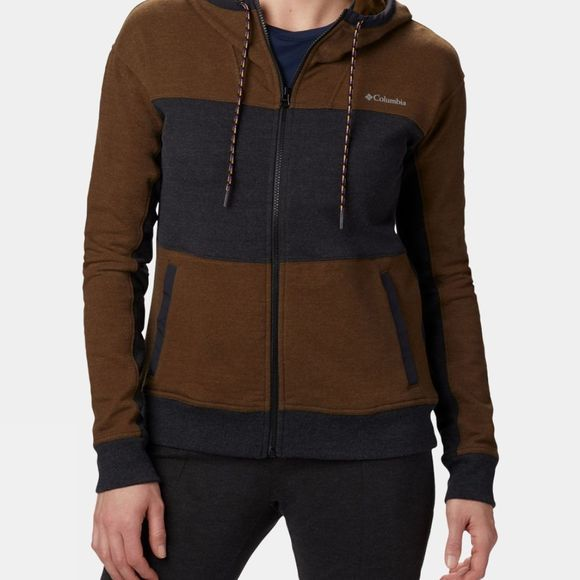 Columbia Womens Lodge Full Zip Black/ Olive Green