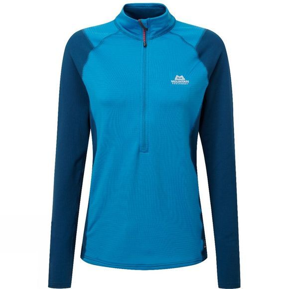 Mountain Equipment Womens Eclipse Zip Tee Lagoon Blue/Marine