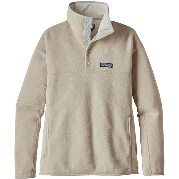 Patagonia Womens Lightweight Better Sweater Marsupial Pullover Bleached Stone