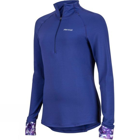 Marmot Womens Excel 1/2 Zip Top Deep Dusk/Deep Dusk Brights