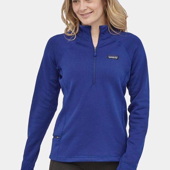 Patagonia Womens Crosstrek 1/4 Zip Fleece Cobalt Blue