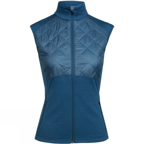 Icebreaker Womens Ellipse Vest  Prussian Blue