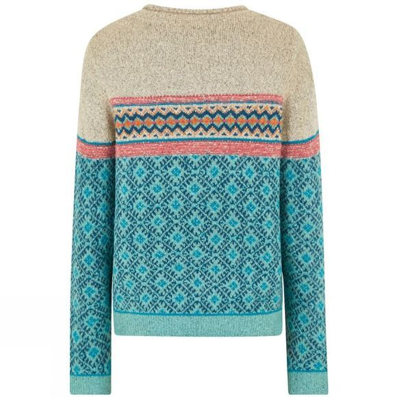 Weird Fish Womens Steffi Jumper Aqua Marine