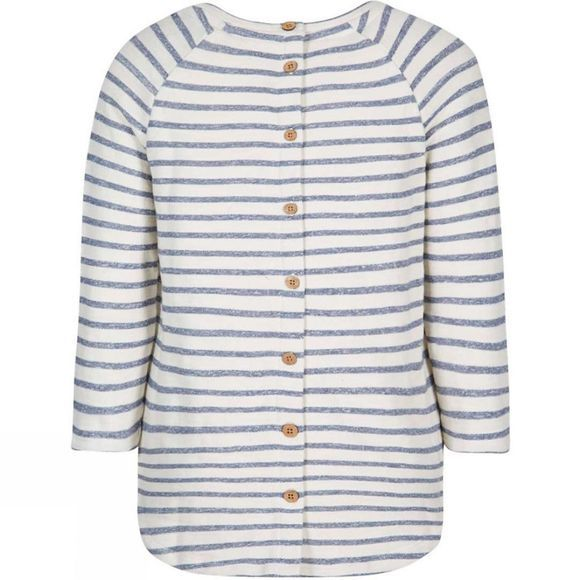 Weird Fish Womens Roxie Striped Crew Neck Top Dark Denim