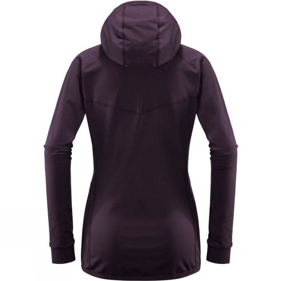 Haglofs Womens Lithe Hooded Jacket Acai Berry / Lilac