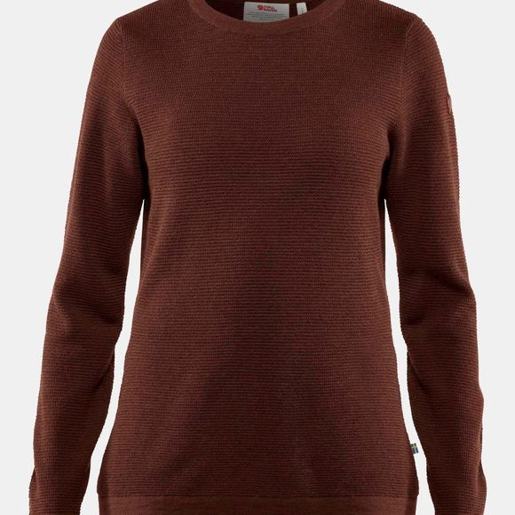 Fjallraven Womens High Coast Merino Sweater  Maroon