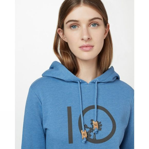 Tentree Womens Ten Hoodie Blue Jay Blue Heather