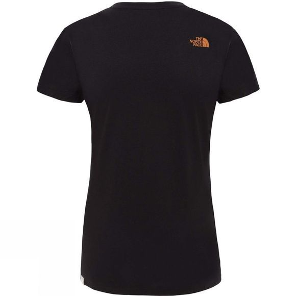The North Face Women's Short Sleeve Easy Tee TNF Black/Metallic Copper
