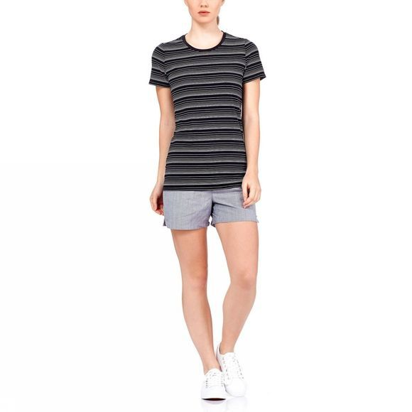 Womens Tech Lite Short Sleeve Crewe Stripe