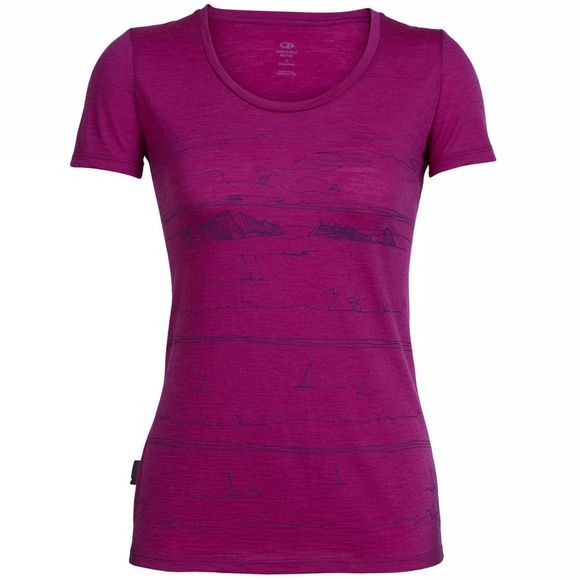 Womens Tech Lite Short Sleeve Scoop Porto Isle