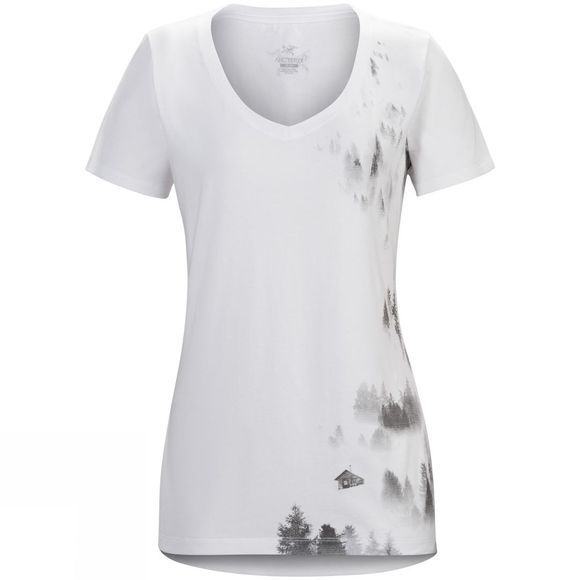 Womens Morning Short Sleeve V-Neck