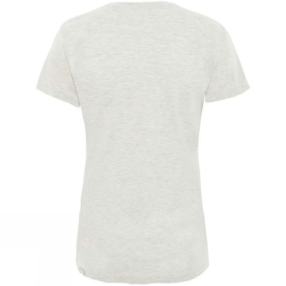 The North Face Womens Short Sleeve Easy T-Shirt Wild Oat Heather
